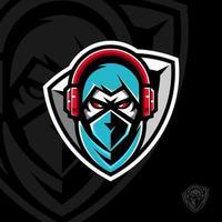 phantom mascotte ontwerp op zwarte achtergrond vector