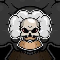 schedel met rook op zwarte achtergrond vector