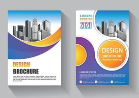 flyer sjabloonontwerp voor cover layout jaarverslag