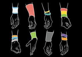 Wristband Vector Pictogrammen
