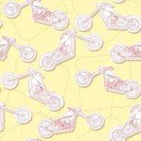 naadloze motorfietsen overzicht patroon.