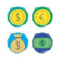 bundel van economie en financiën pictogrammen