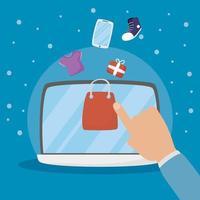 laptop met online winkel- en e-commercetechnologie
