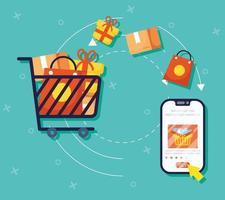 online winkelen en e-commerce via smartphone