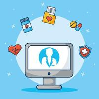 online gezondheidszorgtechnologie via desktopcomputer