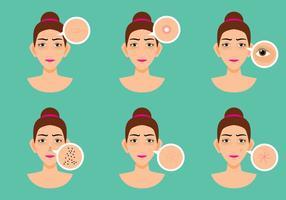 Women Skin Probleem vector