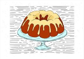 Vrije Hand Getekende Vector Cake Illustratie