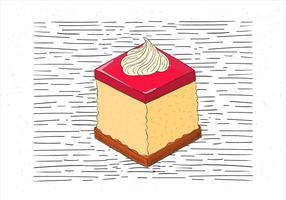 Vrije Hand Getekende Vector Stuk Cake Illustratie