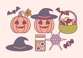 Vector Halloween Elementen