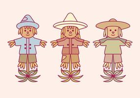 vector scarecrows set