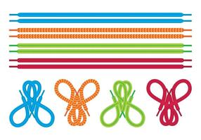 Shoestring icons set vector