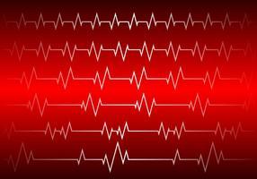 Hartritme Rode Achtergrond Gratis Vector