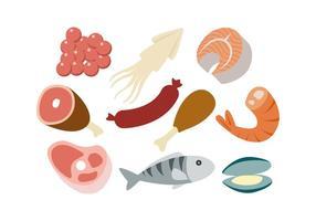 Gratis Voedsel Kleurrijke Pictogram Vector