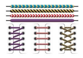 Kleurrijke Shoestring Vector Art