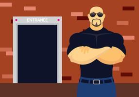 Nachtclub Bouncer Illustratie vector