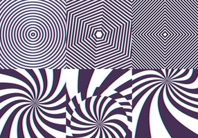 Psychedelisch Patroon Naadloos Met Strepen En Twist Vector