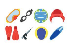 Water sport gerelateerde set iconen vector