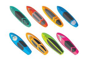 Paddleboard Vector Collectie
