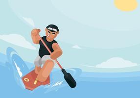 Paddleboard Illustratie vector
