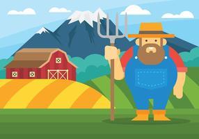Boeren Vectorillustratie vector