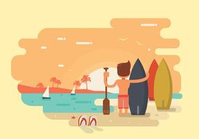 Oceaan surfer vector