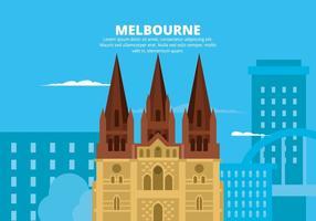 Melbourne Illustratie vector