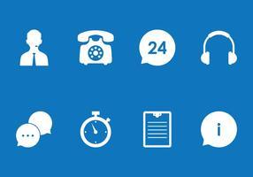 Call Center Icon Set vector