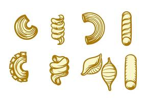 Macaroni pictogram vector