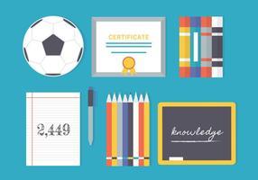 Gratis Flat Education Vector Elementen