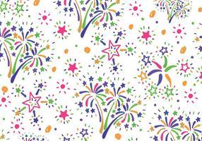Kleurrijk vuurwerk patroon vector