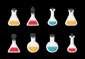 Flessen Met Stoppers Pictogrammen Vector