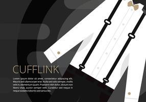 Dress Kleren Met Cufflink Illustratie