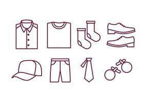 Mannen Accessoires Icon Pack vector