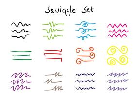 squiggle set vector