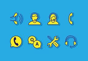 call center icoon vector