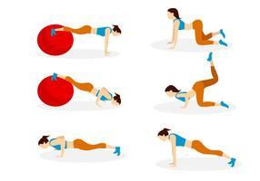 Vrouwelijke push-up