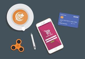 Supermarkt Grafiek App Gratis Vector