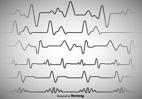 Vectorillustratie Hartritme EKG Vector