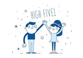 Gratis High Five Vector