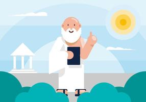 Socrates Illustratie vector