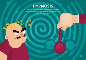 Illustratie van de hypnose vector