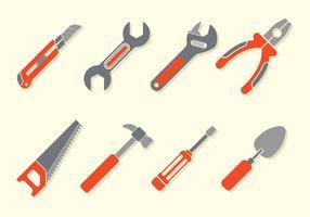 Bricolage tools iconen vector