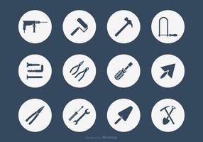 Bricolage tools vector icon set