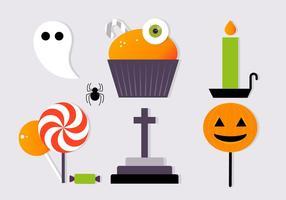 Gratis Scary Halloween Vector Element Collectie