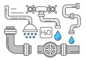 Gratis vectoren over loodgieterswerk