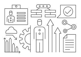 Gratis Human Resources Infographics vector