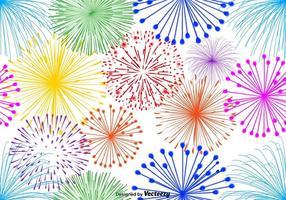 Vector veelkleurige vuurwerk eindeloze patroon op een witte achtergrond
