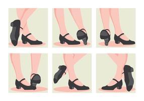 Tap Schoenenhakken vector