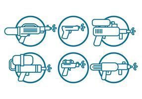 watergun vector set