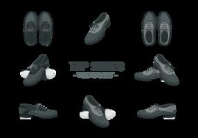 Tap Schoenen Pictogrammen Vector